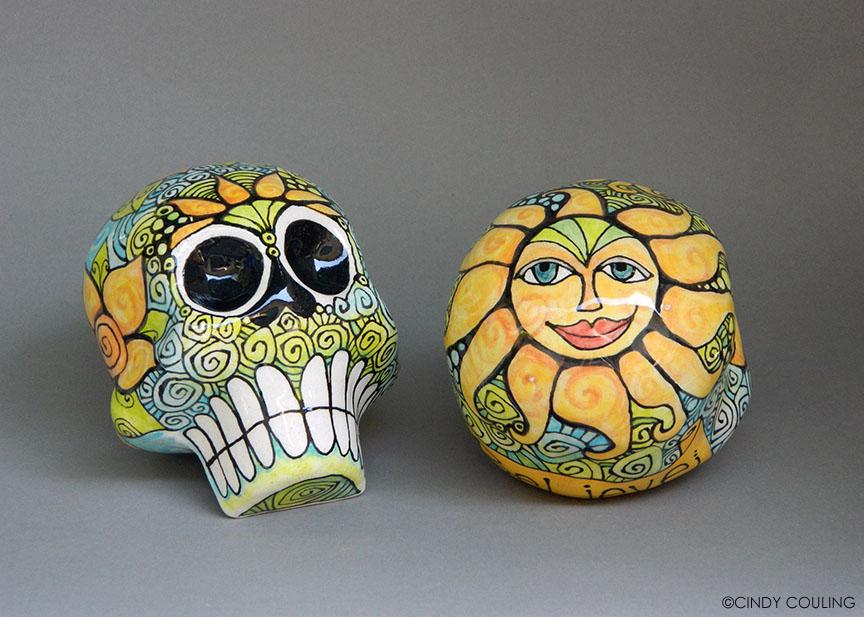 Day of the Dead Ceramic Sugar Skulls