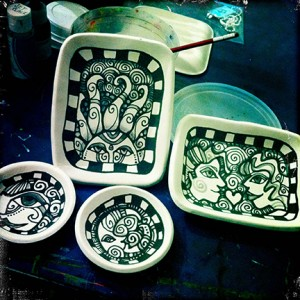 Pre-bisqued-pottery