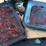 Copper Luster Glazed Raku Tiles
