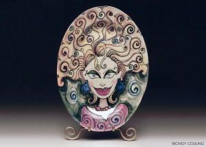 Big Hair Day Ceramic Platter Couling