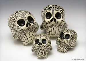 Ceramic Skulls Cindy Couling