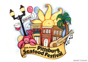 Logo created for the Pittsburg Seafood Festival.