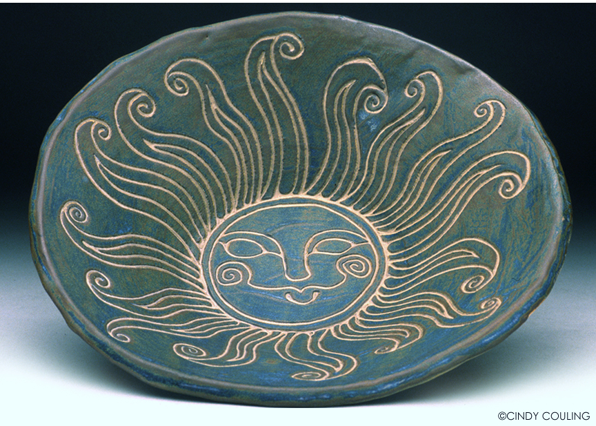 Sgraffito Sun Bowl