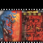 Visual Art Journal - Never Look Back. Mixed media, collage, painting.