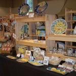 Cindy Couling Pottery Show Display