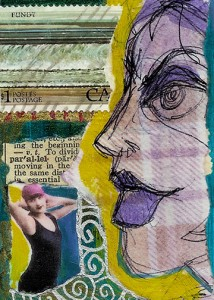 Collage Artist Trading Card Couling