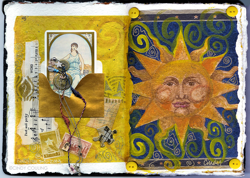 Tarot Inspired Journal Page