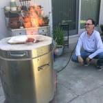 Homemade Raku Kiln Firing HOT