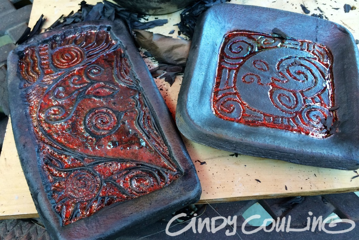 Copper Luster Glazed Raku Tiles