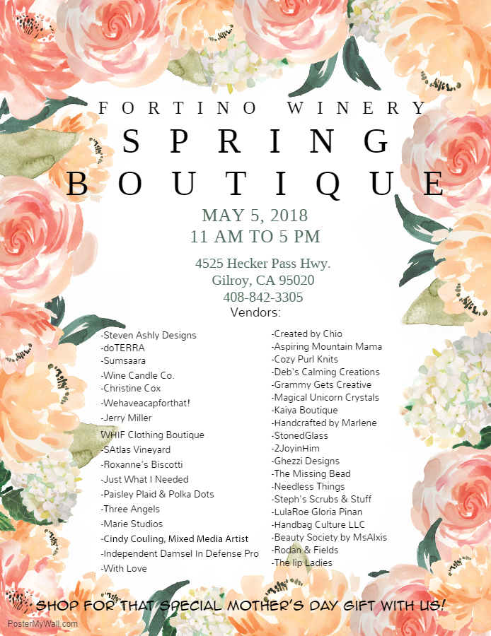 Fortino Winery Spring Boutique
